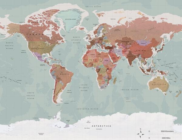 Fototapeta Wayfinder Classic | tapeta mapa świata
