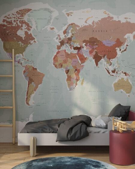 Fototapeta Wayfinder Classic | fototapeta mapa świata