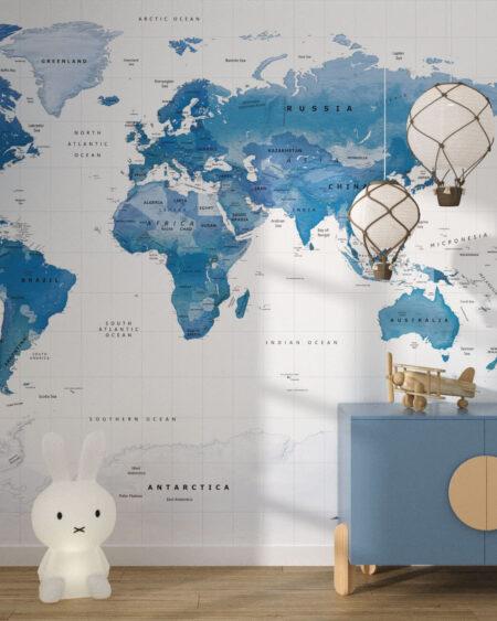 Fototapety Blue World | tapety do pokoju dziecięcego