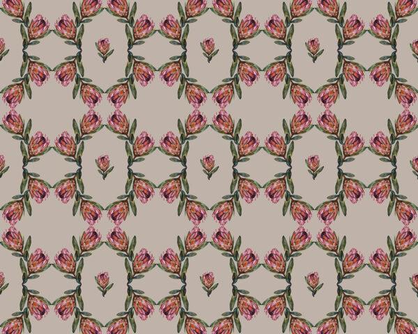 Fototapety Campo Tinieblas Szare tło   fototapeta kwiaty