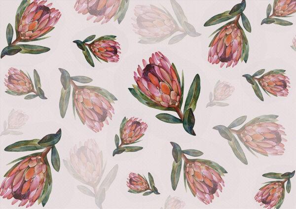 Fototapety Campo Romanza różowy odcień | fototapeta kwiaty
