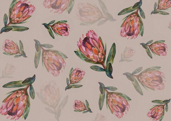 Fototapety Campo Romanza brązowe odcienie | fototapeta kwiaty