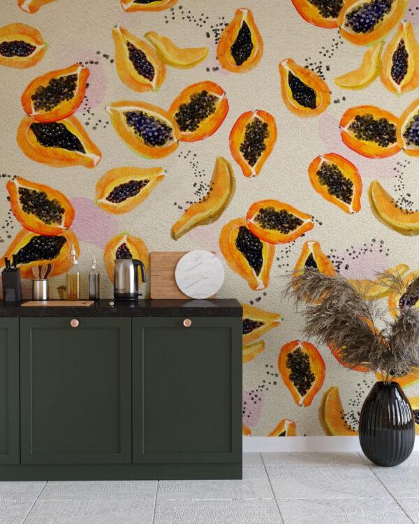 Fototapety Fruity Pawpaw | tapety 3d do kuchni