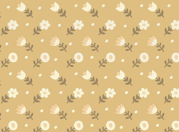 Fototapety Shapes Yellow flowers żółty odcień | tapeta dla dzieci 3d