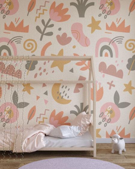 Fototapety Shapes Pastel | fototapeta do pokoju dziecka
