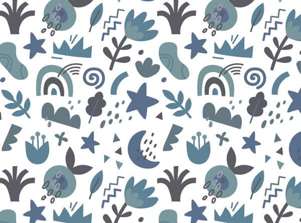 Fototapety Shapes Pastel niebieskie odcienie   fototapeta do pokoju dziecka