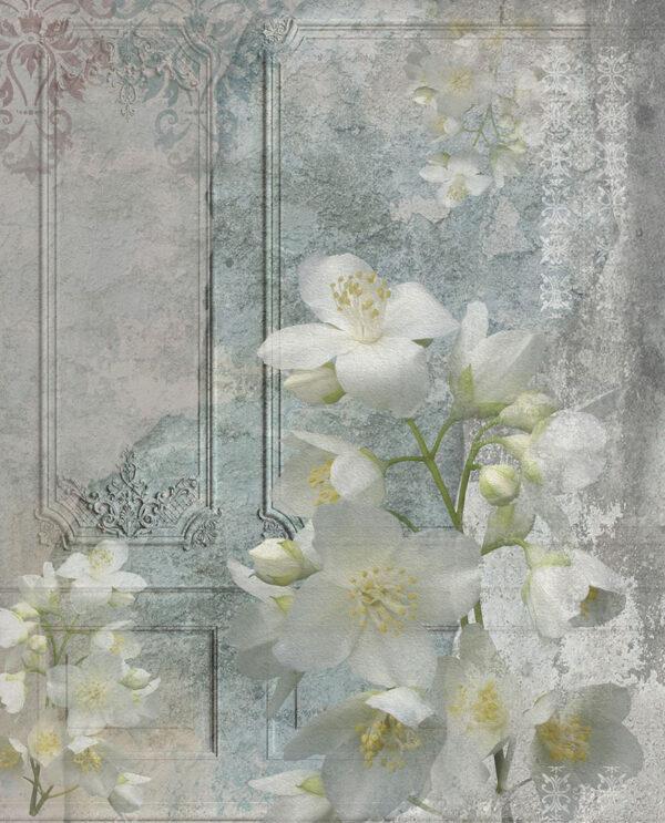 Fototapety Venice Vintage flower | tapeta 3d kwiaty