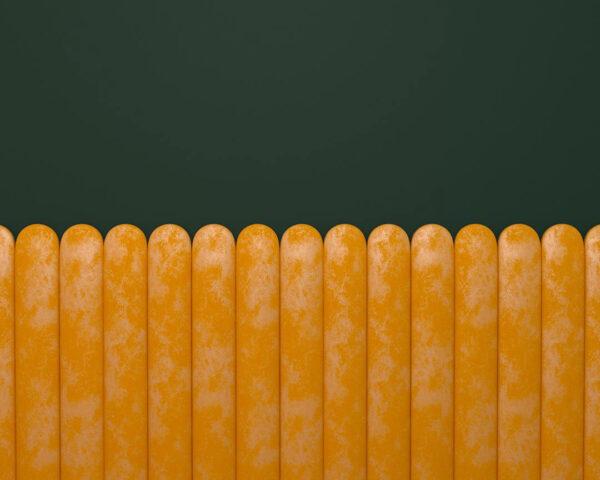 Fototapety Equalizer żółty Horizontal zielone tło | tapety 3d