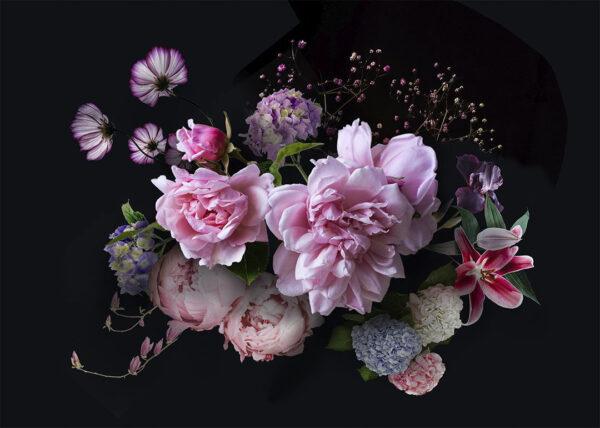 Fototapety Silkeborg czarny kolor   tapeta 3d kwiaty