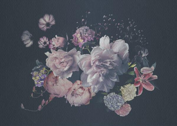 Fototapety Silkeborg szare odcienie   tapeta 3d kwiaty