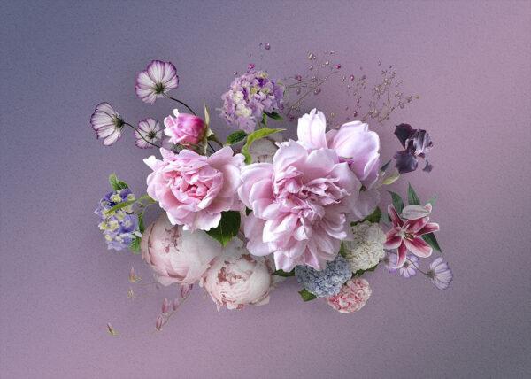 Fototapety Silkeborg fioletowy odcień   tapeta 3d kwiaty