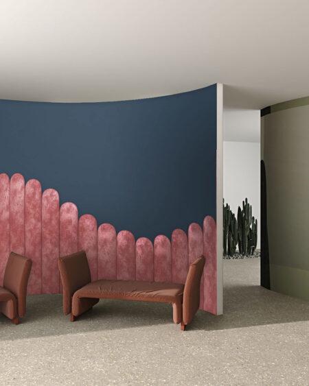 Fototapety Equalizer Pink Wave on Gray | tapety 3d do salonu