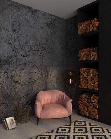 Fototapety Linear Gray | fototapeta do sypialni