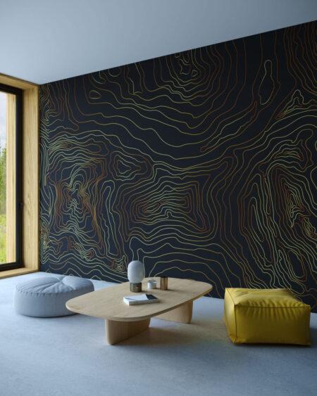 Fototapety Linear Black | tapety 3d do salonu