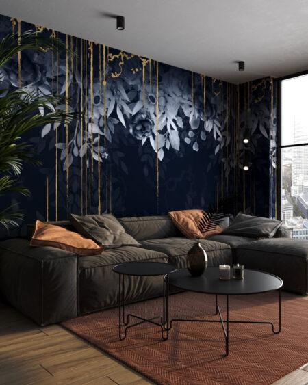 Fototapety Blues & Gold | tapety 3d do salonu