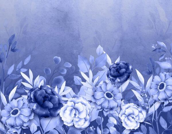 Fototapety Frederikshavn niebieskie odcienie | fototapeta kwiaty