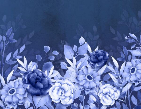 Fototapety Frederikshavn ciemnoniebieski odcień | fototapeta kwiaty