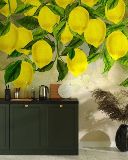 Fototapety Słoneczne Cytryny | tapeta do kuchni 3d