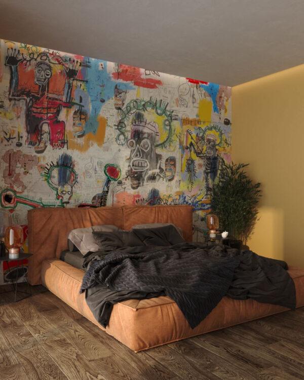 Fototapety Graffiti Saints | fototapeta 3d do sypialni
