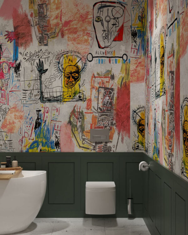 Fototapety Graffiti Bright | fototapeta do łazienki