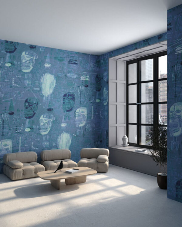 Fototapety Graffiti Blue | fototapeta do salonu