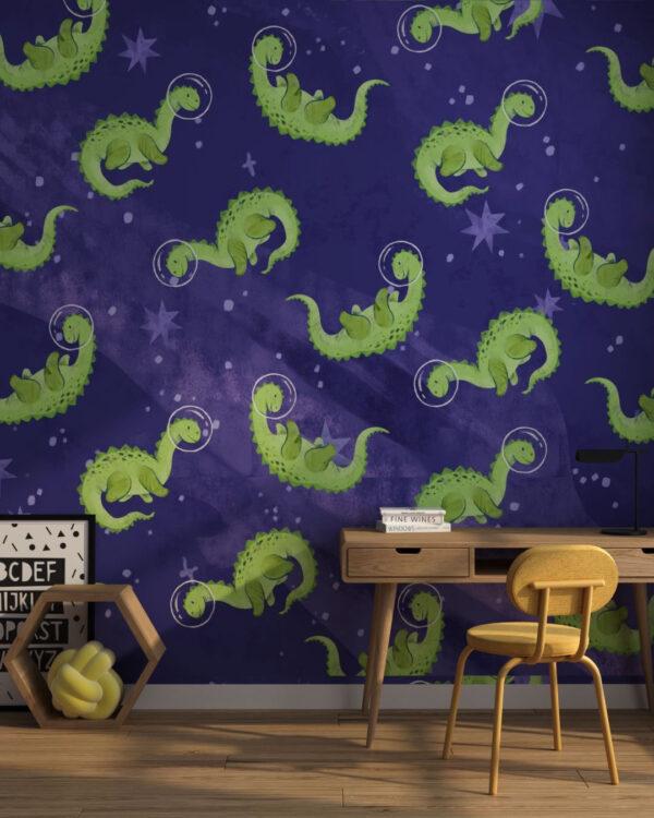 Fototapety Space Purple   fototapeta dinozaury