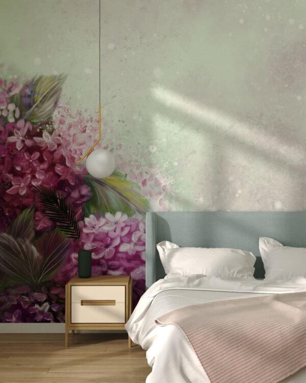 Fototapety Bloom Hydrangea | tapety 3d do sypialni