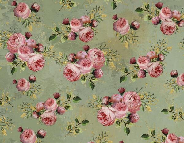 Fototapety Bloom Green odcienie | fototapeta kwiaty