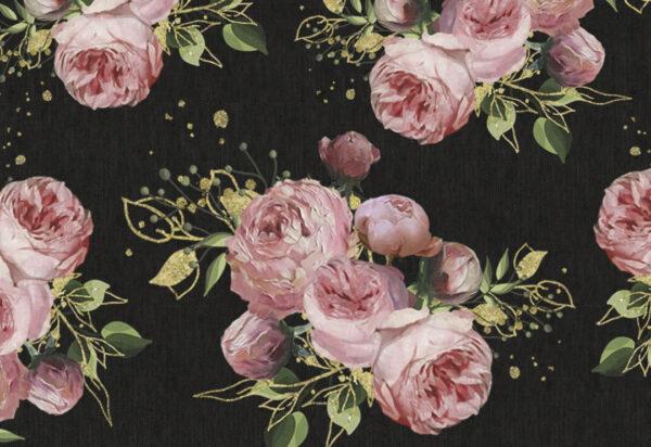 Fototapety Bloom Pattern czarny odcień | tapety 3d