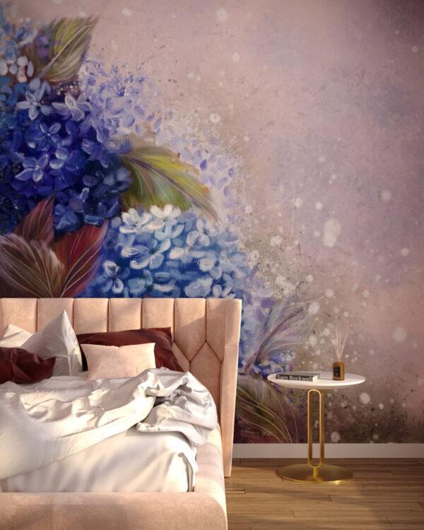 Fototapety Bloom Hydrangea Blue | fototapeta kwiaty