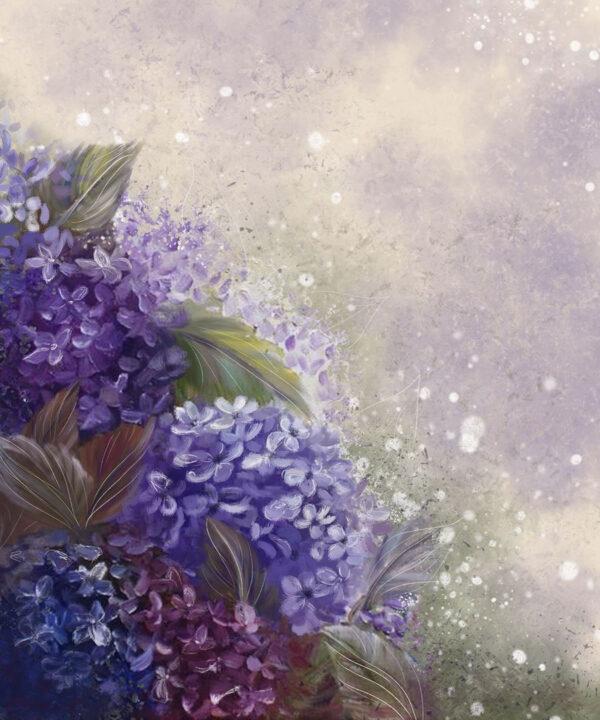 Fototapety Bloom Hydrangea Blue | fototapeta kwiat