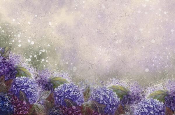 Fototapety Bloom Hydrangea Blue | tapeta 3d kwiaty