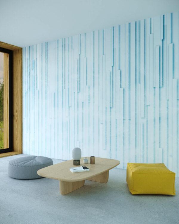 Fototapety Glyph Blue | tapety 3d do salonu