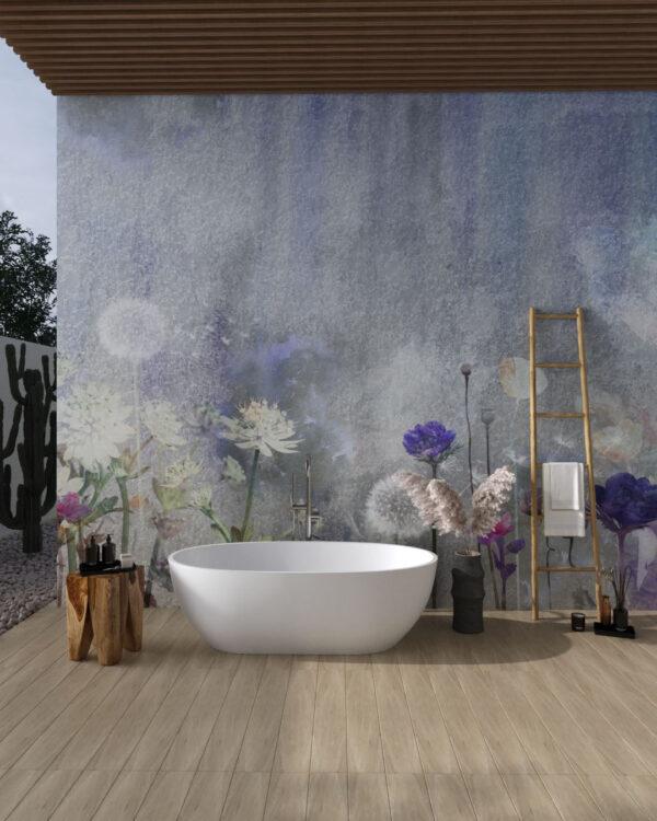 Fototapety Watercolor Dandelions   fototapeta do łazienki