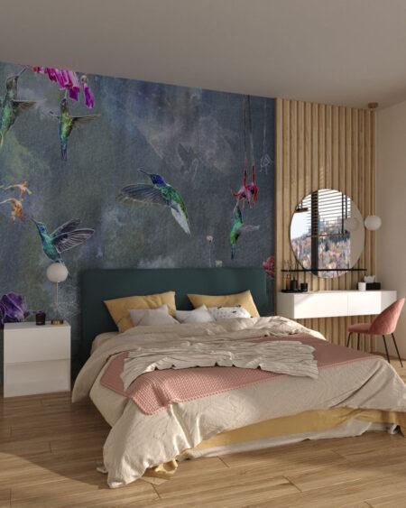 Fototapety Watercolor Birds | tapeta do sypialni 3d