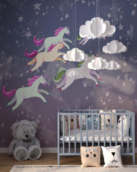 Kup Unikat Fototapety Unicorns Less | fototapeta do pokoju dziecka