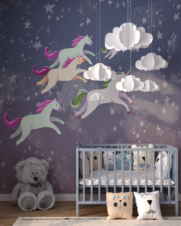 Kup Unikat Fototapety Unicorns Less | fototapeta dziecięca