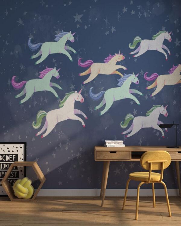 Fototapety Unicorns More | fototapeta do pokoju dziecka
