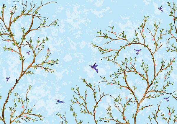 Fototapety Lot Ptaka niebieski przykład   fototapeta do łazienki
