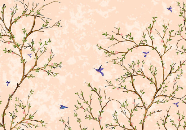 Fototapety Lot Ptaka kolor brzoskwiniowy   fototapeta do łazienki