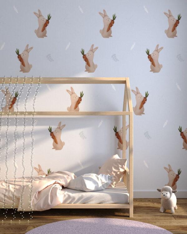 Unikat Fototapety Bunnies | tapety 3d dla dzieci