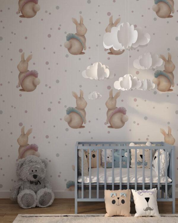 Fototapety Bunnies | tapeta do pokoju dziecka