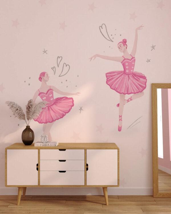 Fototapety Ballet Duet | tapety do pokoju dziewczynki