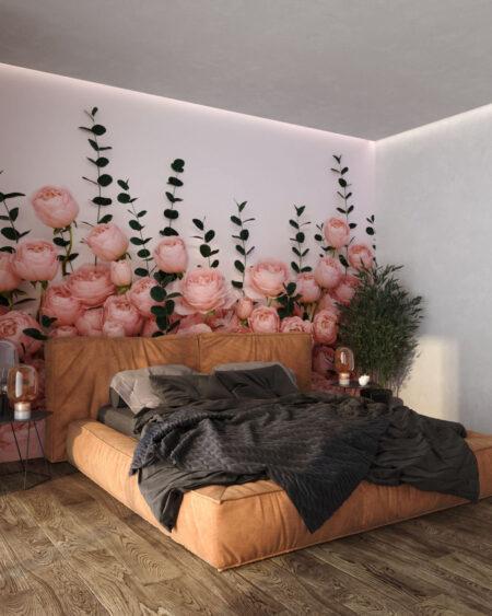 Fototapety 3D Rosa Inglesa White | tapety 3d do sypialni