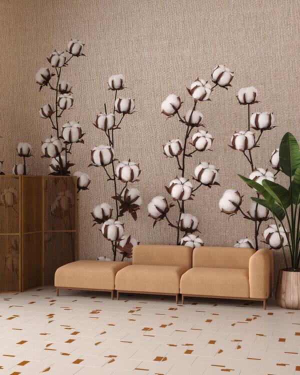 Fototapety 3D Cotton Knitted | tapety 3d do salonu