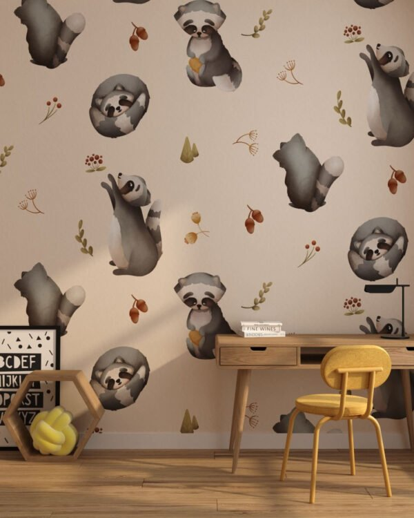 Fototapety Raccoon Nude | fototapeta do pokoju dziecka