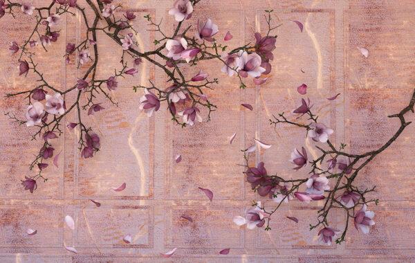 Kup Fototapety 3D Ortensie Dark pomarańczowe odcienie | fototapeta kwiaty