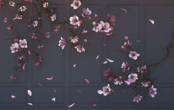 Kup Fototapety 3D Ortensie Dark czarne odcienie | fototapeta kwiaty