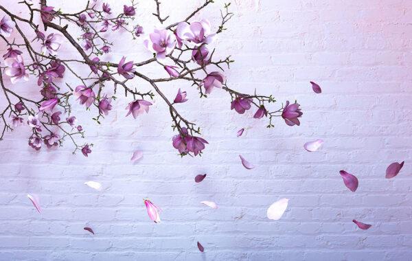 Fototapety Autunno Gold Pink różowa cegła | fototapeta kwiaty