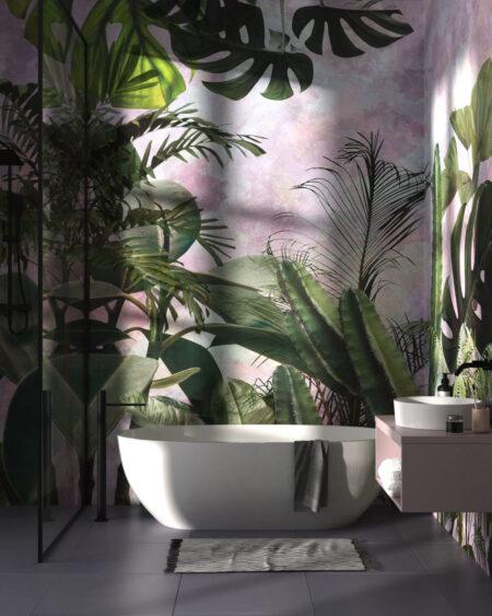 Fototapety Foliage Purple Watercolor | tapety 3d do salonu